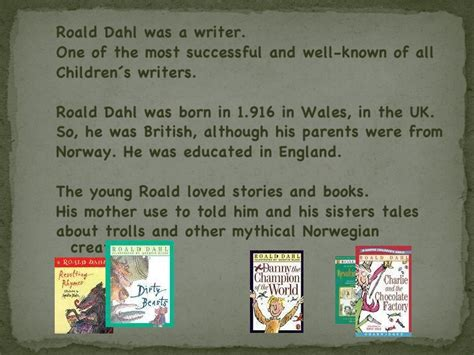 roald dahl biography for students roald dahl biography presentation