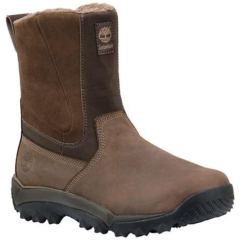 mens slip on waterproof boots timberland s rime ridge mid slip on waterproof boot