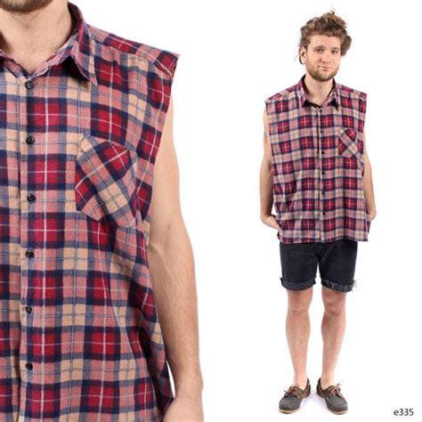 Quality Mini Dress Flanel mens plaid vest vintage flannel shirt sleeveless top