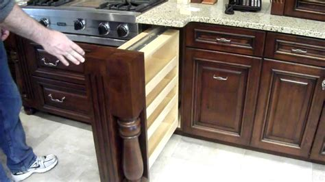 Kitchen Cabinet Trash Can by Hidden Spice Rack In Custom Kitchen Cabinet Youtube