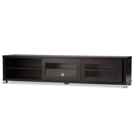 baxton studio unna 70 in tv cabinet baxton studio beasley 70 inch dark brown tv cabinet with 2