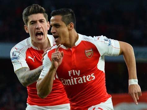 Alexis Sanchez Hector Bellerin | result alexis sanchez double guides arsenal past west