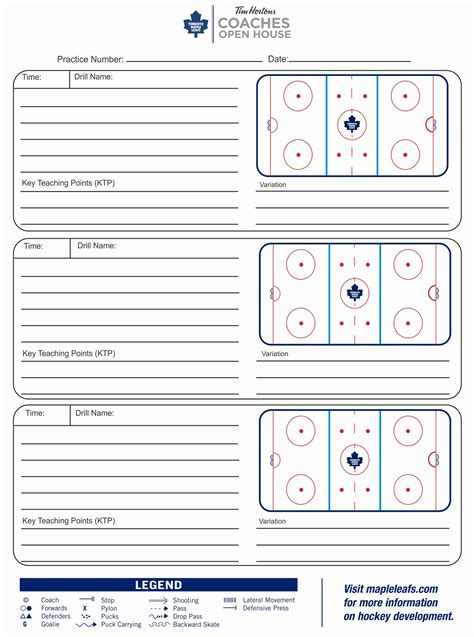 hockey bench card template coaches open house toronto maple leafs