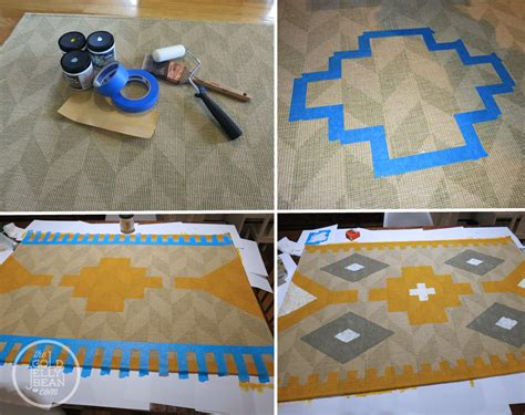 Chevron Bathroom Ideas diy painted kilim rug the gold jellybean