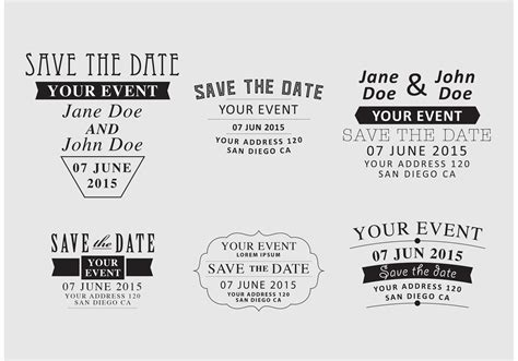 save the date wedding invitation free vector in adobe illustrator