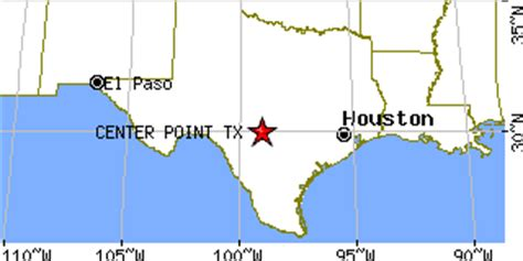 center texas map center point texas tx population data races housing economy