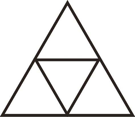 zelda triforce coloring page quot zelda triforce outline quot by wexwex redbubble
