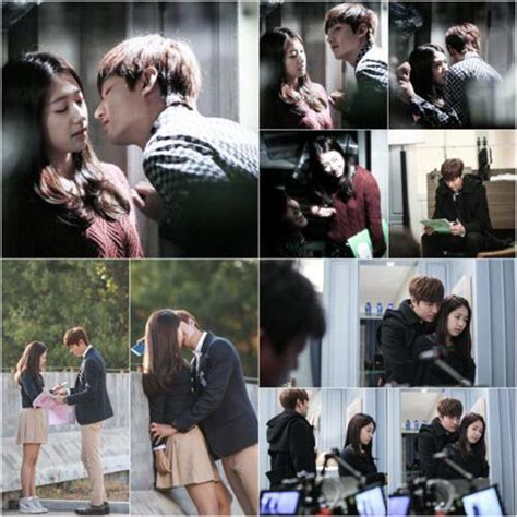 film film lee min ho dan park shin hye behind the scene ciuman lee min ho park shin hye