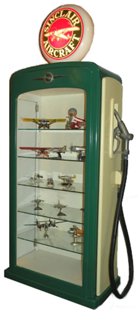 gas pump display cabinet gas pump display cases