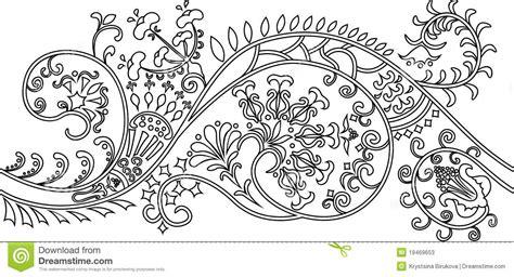 filigree flower border stencil stock  image