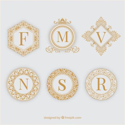 cornici d oro sei cornici ornamentali d oro scaricare vettori gratis