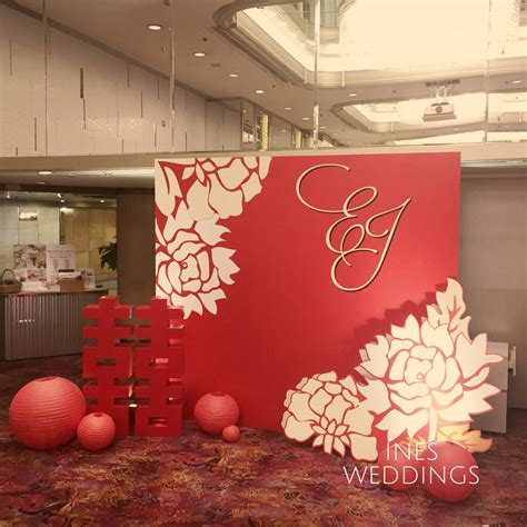 Modern Chinese backdrop ???????   Wedding Decoration HK in