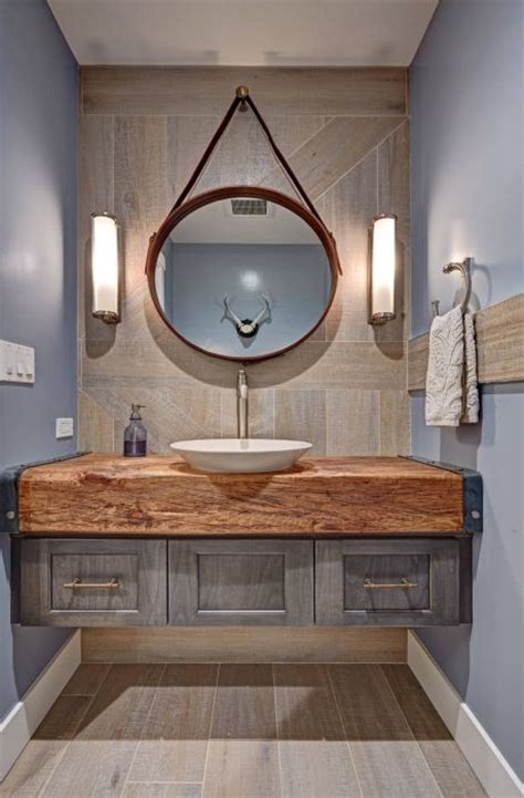 Modern Wood Bathroom by Rustic Modern Bathroom Design Floating Vanity Wood