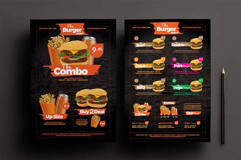free fast food menu template for photoshop illustrator