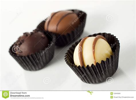 Handcrafted Chocolates - individual handmade chocolates stock photo image 12943926