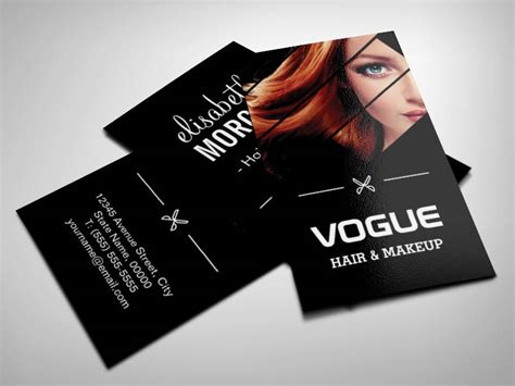 Unique Hair Stylist Business Cards
