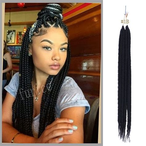 best hair for box braids extensions crochet box braids hair brown synthetic braiding