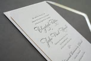 elizabeth s classic calligraphy wedding invitations