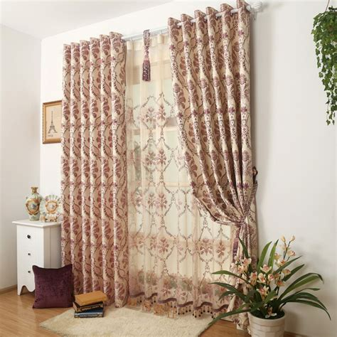 two layer curtain rod aliexpress com buy double layer curtain jacquard living
