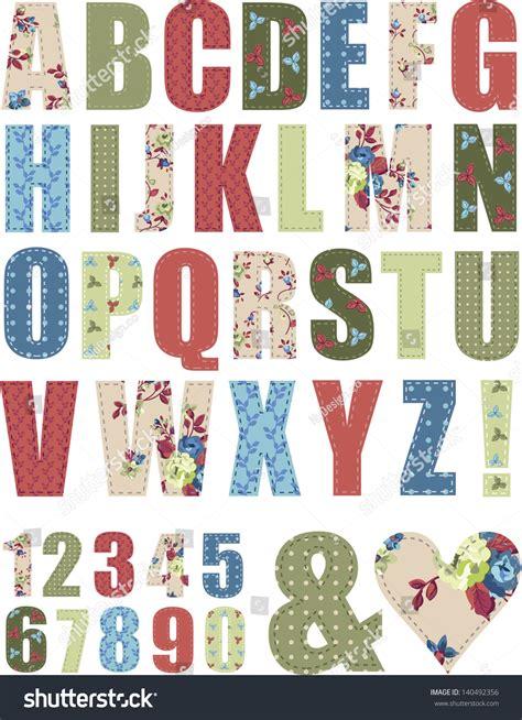 letter pattern words floral vector pattern alphabet letter set stock vector