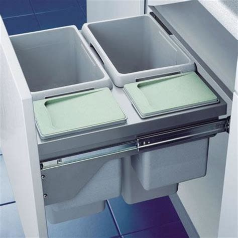 internal bins integrated bins the bin company uk integrated kitchen recycling bin euro cargo 600mm