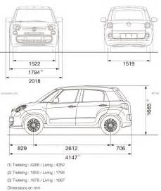 Fiat 500 Length In Inches Fiat 500l Fiche Technique Dimensions