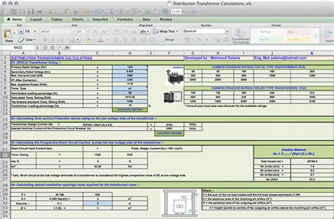 Electrical Engineering Excel Spreadsheets by Electrical Load Calculation Excel Spreadsheet Cable