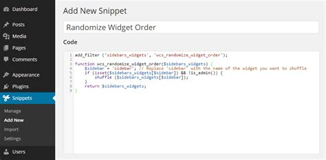 A Snippet by Safely Add Code Snippets To Your Functions Php File