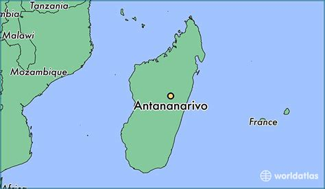where is madagascar on a world map where is antananarivo madagascar where is antananarivo