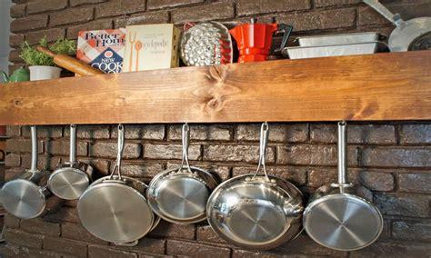 Diy Kitchen Rack by Wall Pot Racks Diy Pot Rack Kitchen Storage And Shelf