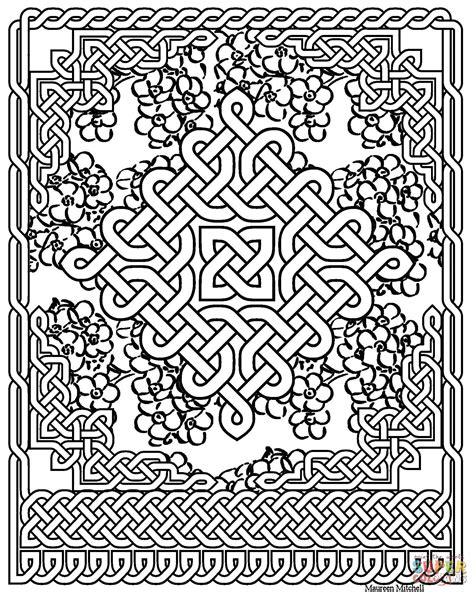 celtic coloring pages celtic knot pattern coloring page free printable