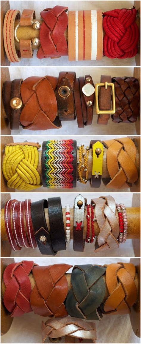 pulseras hechas a mano de cuero pulseras hechas a mano 2 estuches de cuero para asado