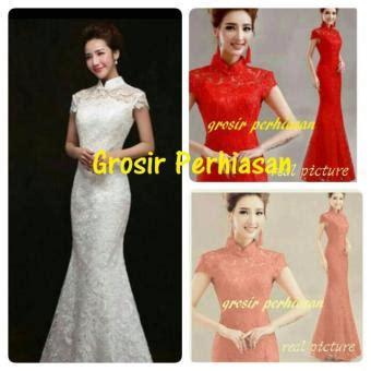 Dress Gaun Pesta Maxi Marun flavia store dress lengan pendek brukat fs0337 maroon gaun