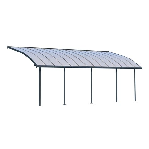 10 ft awning palram feria 10 ft x 10 ft grey patio cover awning