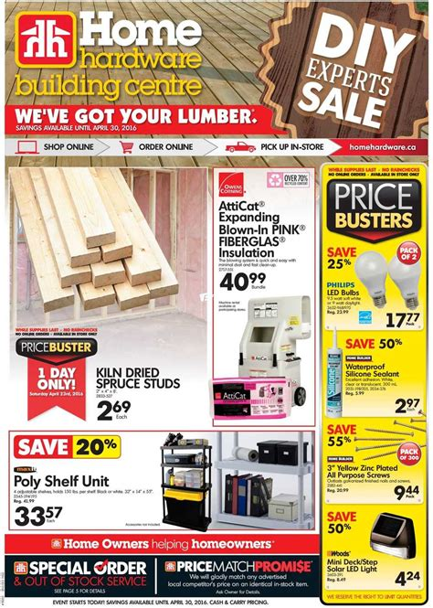 home hardware building centre atlantic flyer april 20 to