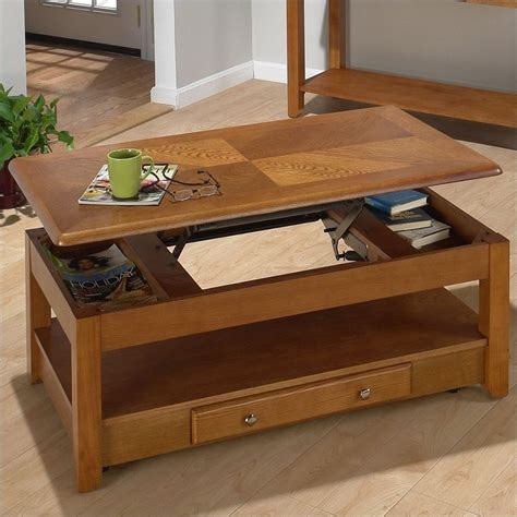 jofran 480 series wood lift top cocktail coffee table in