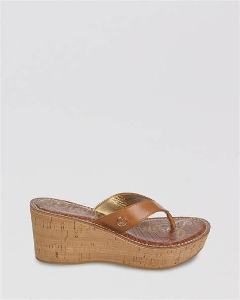 sam edelman platform wedge sandals romy in brown au