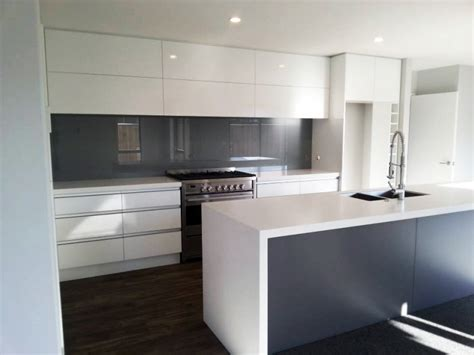 Grey Kitchen Floor Ideas by Coloured Glass Splashbacks The Glass Room