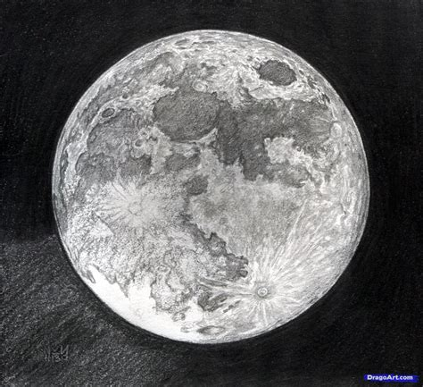 Sketches Moon by How To Draw The Moon Step By Step Outer Space Landmarks