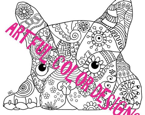 french bulldog puppy coloring page crafts digi sts 8 best dog coloring pages for adults images on pinterest
