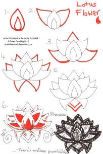 How To Lotus How To Draw Paisley Flower 06 By Quaddles Roost On Deviantart