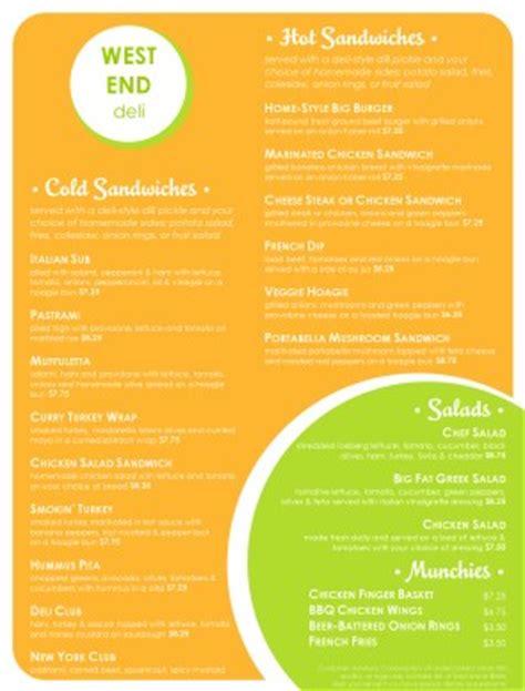 deli menu templates delis menu deli menu