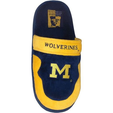 of michigan slippers of michigan wolverines mens house shoes