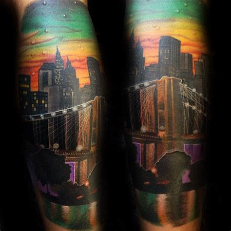 tattoo nyc manhattan 60 brooklyn bridge tattoos for men new york city design