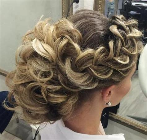 Wedding Hairstyles Curly Braid by 40 Chic Wedding Hair Updos For Brides