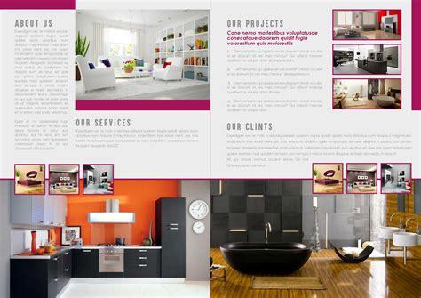 Bi Fold Interior Brochure Design Template Bi Fold Brochure Template Indesign