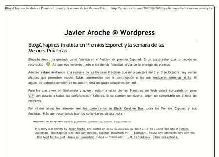 printable version css versi 243 n imprimible del blog via css javier aroche