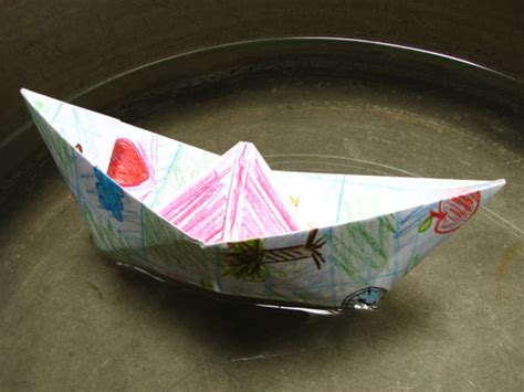 Floating Origami Boat - floating boat with origami