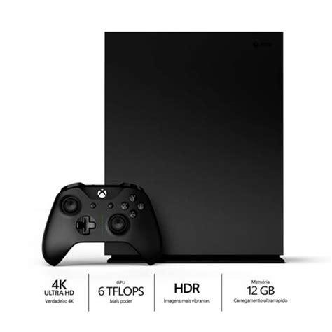 game console project x console xbox one x project scorpio edition 1tb preto