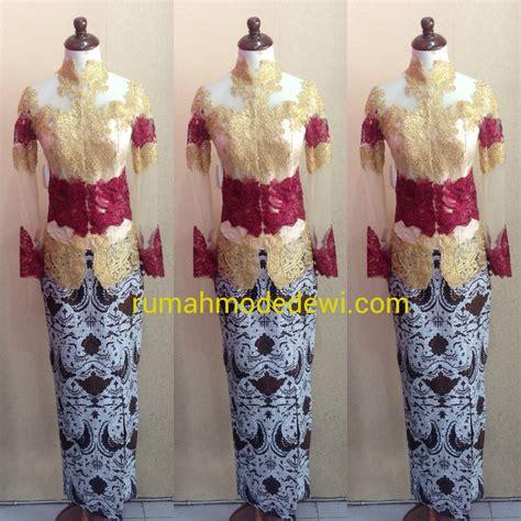 Kebaya Pengantin Modern Ekor Panjang Recomanded Baju Pengantin Warna Merah Gold Kebaya Warna Gold New